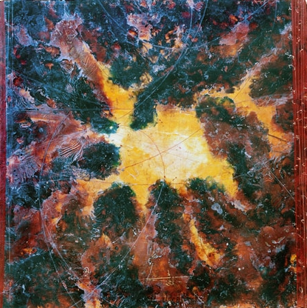 Star Cluster, 2010  encaustic and oil on panel 48 x 48 inches.   Studio Inventory