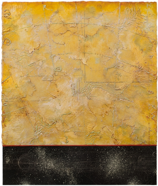 Opposing Cartography 5, encaustic and oil on panel 30 x 24 inches. Available at   Frederick Holmes & Co., Seattle.