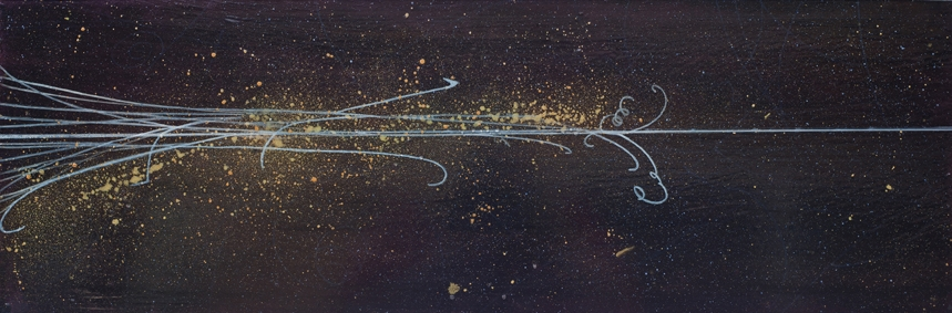 Spacetime Horizon, 2012  oil on panel 12 x 36 inches.   Inquire for price.