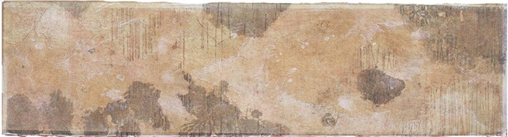 Cartography Study 1 , encaustic collagraph monotype on paper 8 x 21 inches.  Studio Inventory