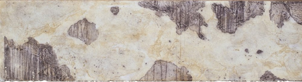 Cartography Study 2 , encaustic collagraph monotype on paper 8 x 21 inches.   Studio Inventory