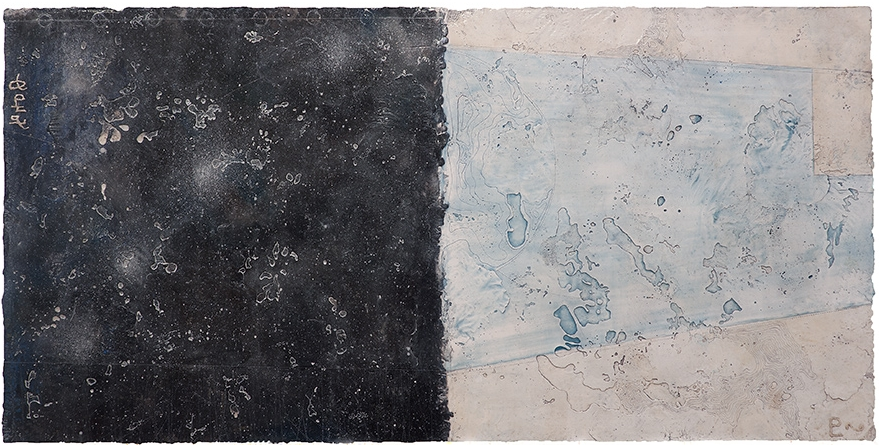 Pluto Atlas I, 2016  encaustic and oil on panel 24 x 48 inches. Available at   Gremillion Fine Art & Co., Houston