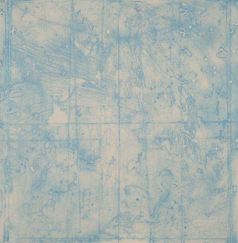 Collision Coalescence Study 2 , encaustic collagraph monoprint on Sakamoto Kozo paper 24 x 24 inches Available at   Gremillion & Co. Fine Art