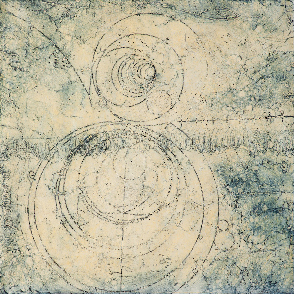 Counter Collision Study 3,  encaustic collagraph monoprint, 24 x 24 inches, limited edition 3/12. Available at   Gremillion & Co, Fine Art Houston