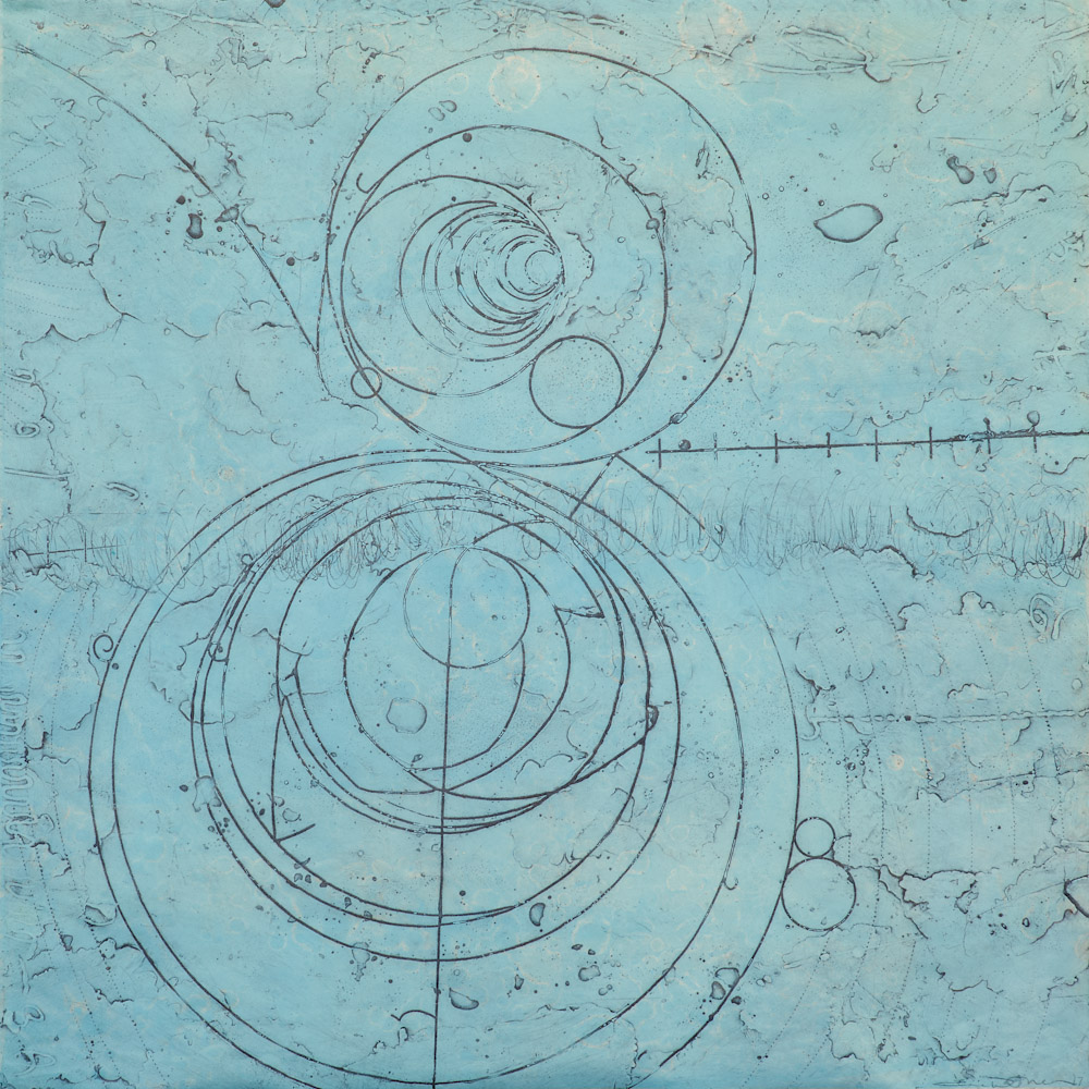 Counter Collision Study 6,  encaustic collagraph monoprint, 24 x 24 inches, limited edition 6/12. Available at   Gremillion & Co, Fine Art Houston