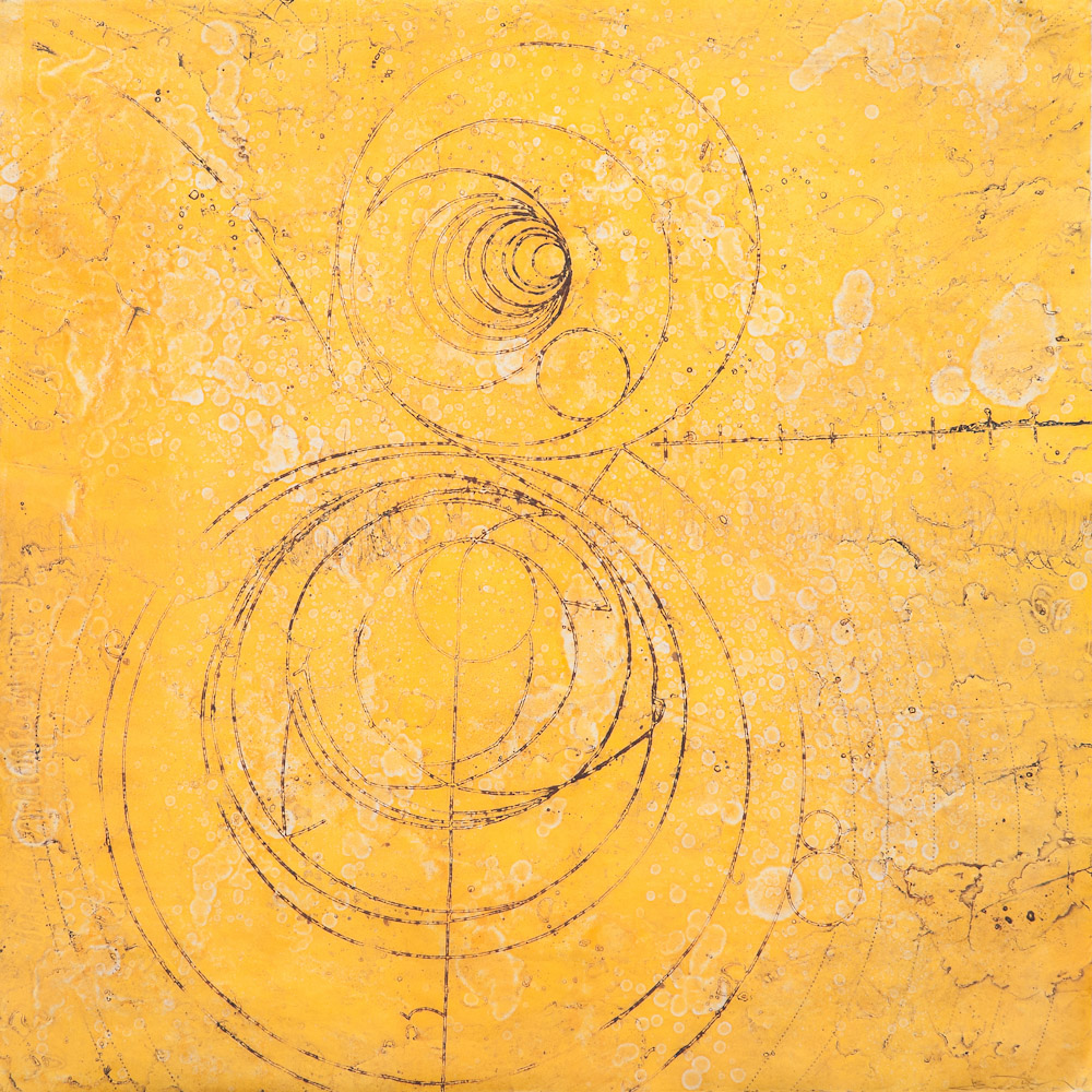 Counter Collision Study 5,  encaustic collagraph monoprint, 24 x 24 inches, limited edition 5/12. Available at   Gremillion & Co, Fine Art Houston