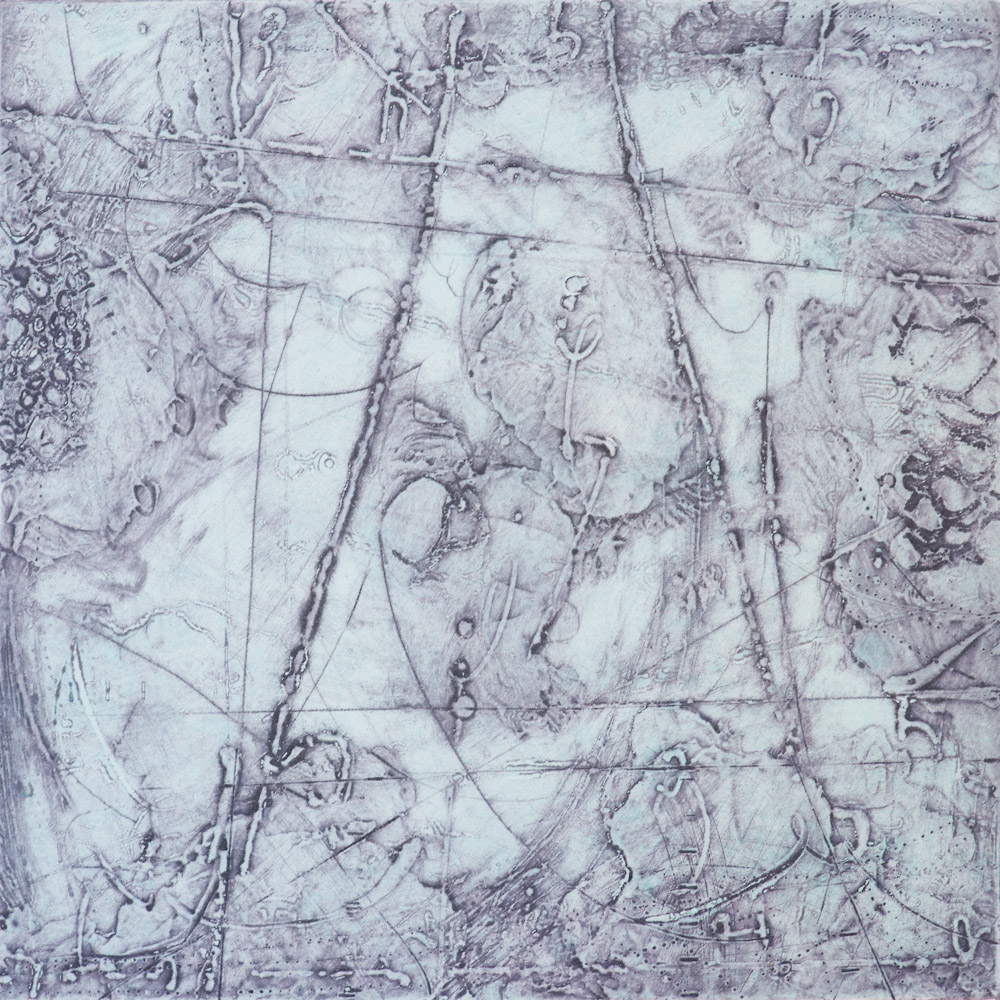 Remnant Topography 7 , encaustic collagraph monoprint 10 x 10 inches. Available at   Warnock Fine Arts  , Palm Springs