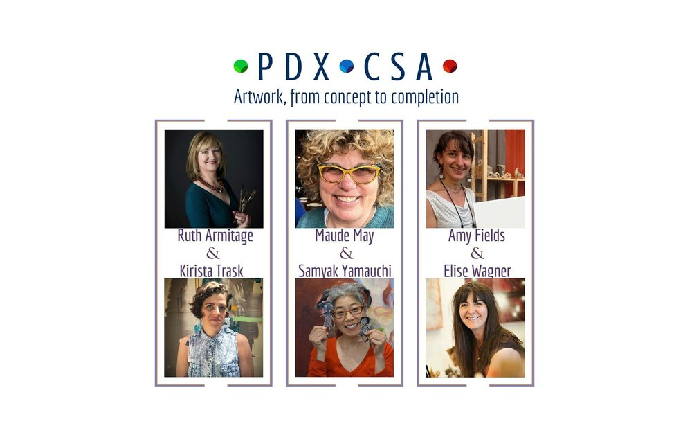 PDX-CSAArtwork, from concept to completion - I'm excited to be one of six artists chosen to be part of Season 4 of the PDX-CSA Artwork: Concept to Completion program. With my project, I propose to create 12 encaustic collagraph limited edition prints of abstract topographical compositions. Prints are $300 each and will be 6