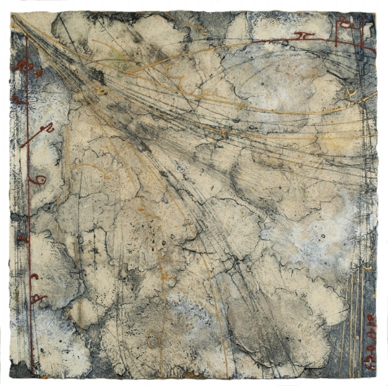 Territory Chart 2, 2014  encaustic and oil on panel 30 x 30 inches.   Inquire for price.     On view at   Garagiste Wine Bar  .