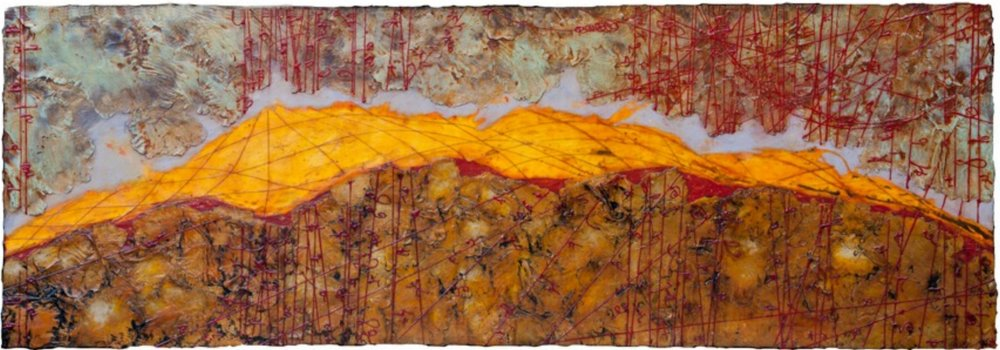 Absolute Horizon II, 2011 encaustic and oil on panel 24 x 70 inches Private Collection, Midland, Texas