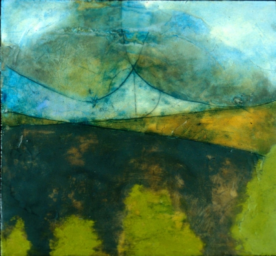 The Sweet Light, 2002  encaustic and oil on panel 8 x 8 inches  Private Collection Portland