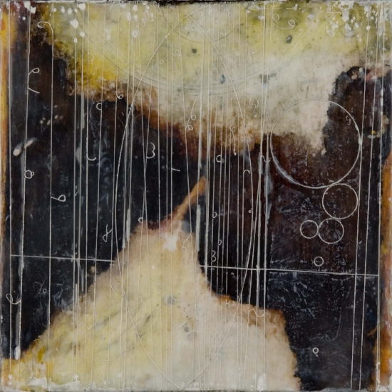 Ice Shift Table, 2007  encaustic and oil on panel 10 x 10 inches  Private Collection, Boston