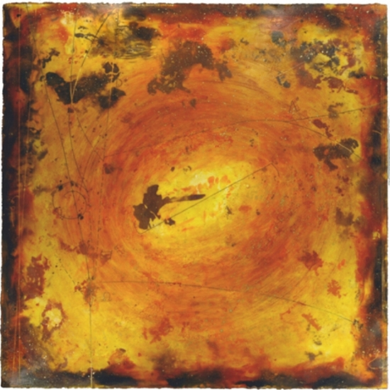 Particle Vortex IV, 2010  encaustic and oil on panel 48 x 48 inches  Private Collection, Mercer Island, WA