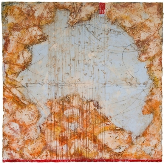 Riddle Cloud, 2010  encaustic and oil on panel 45 x 45 inches  Private Collection, Portland