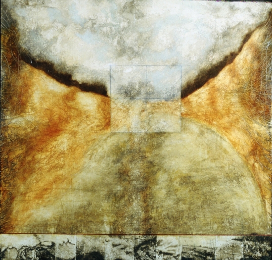 Residual Legends 5, 2001  encaustic and oil on panel 60 x 60 inches  Private Collection Palo Alto, CA