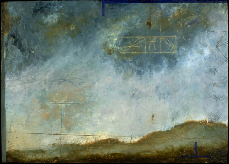 Barren Landscape, 1997  encaustic and oil on panel 18 x 24 inches  Saks Fifth Avenue National Collection