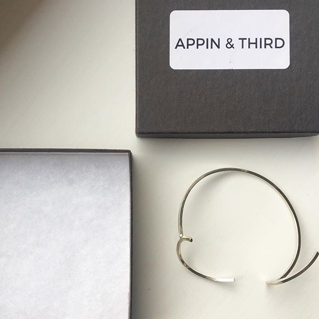 T W O  S I D E S — this bangle is ready for its new home #twosidesofacirclebangle #appinandthird #handmadejewellery #shoplocal #independentmaker