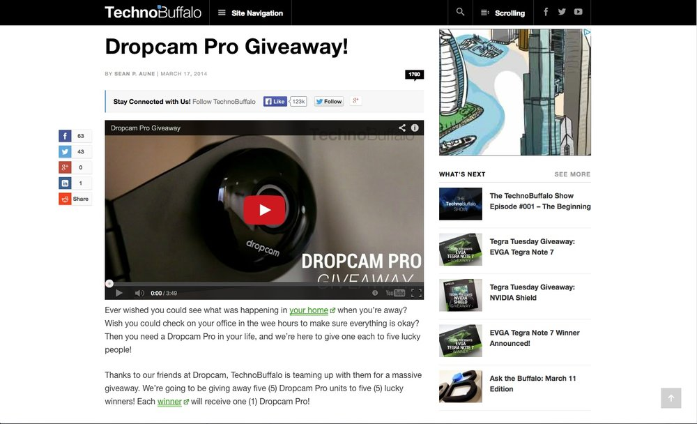 Dropcam • TechnoBuffalo