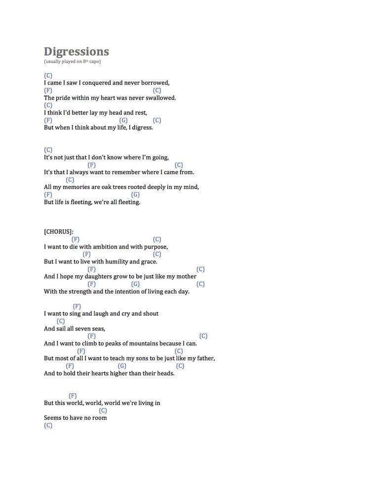 Lyrics + chords — Lizzy LeBleu