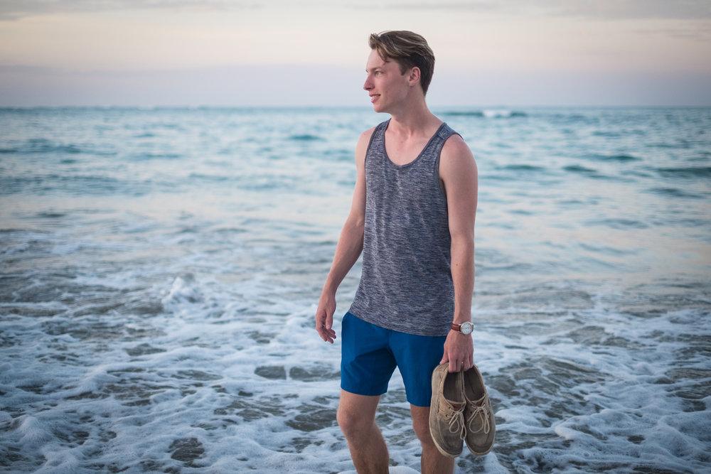 Adley on the Beach