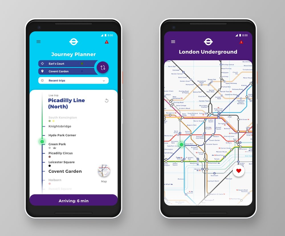 Dedicated Journey Planner & London Underground screens