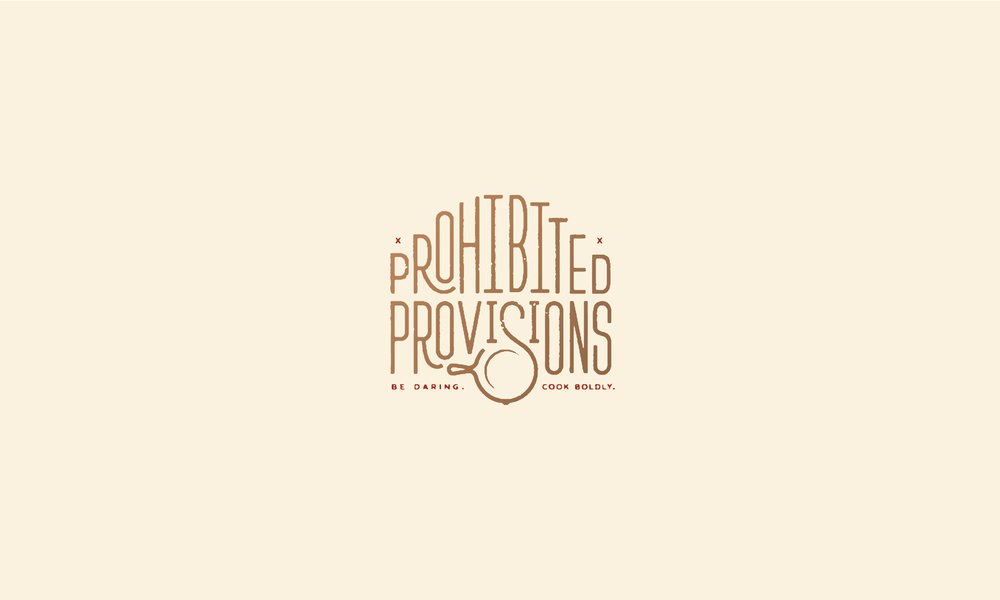 Prohibited Provisions hand lettered logo