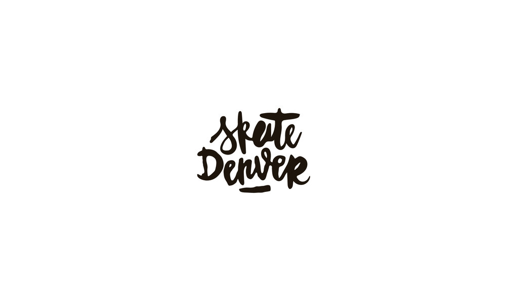Skate Denver calligraphy logo