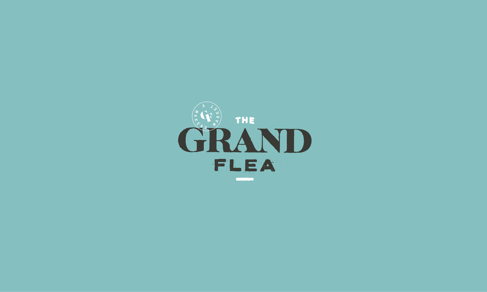 The Grand Flea lettering logotype
