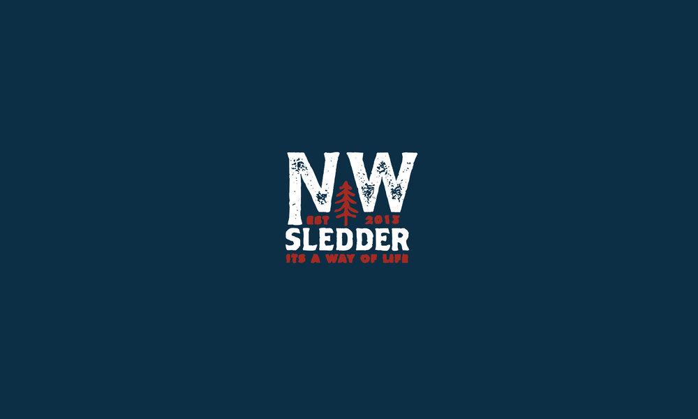 Northwest Sledder lettering logo