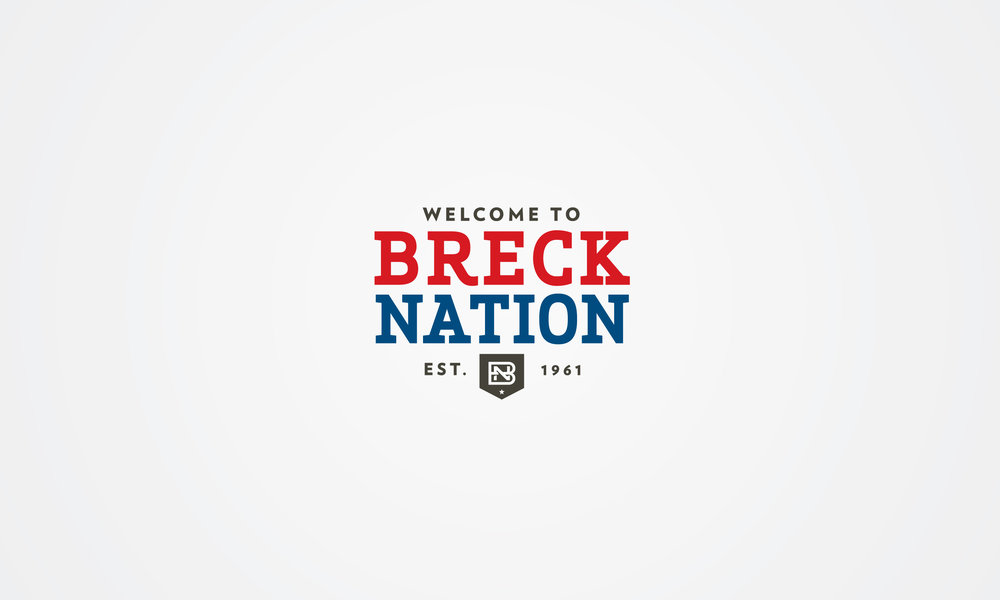 Breckenridge Breck Nation Typographic Logo Crest
