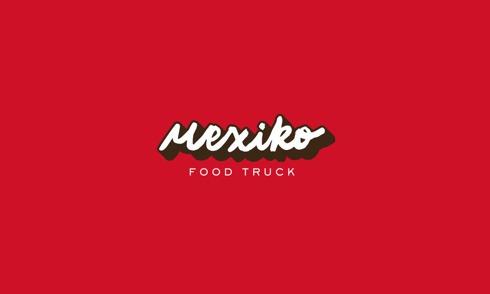 Mexico Food Truck hand lettering logo