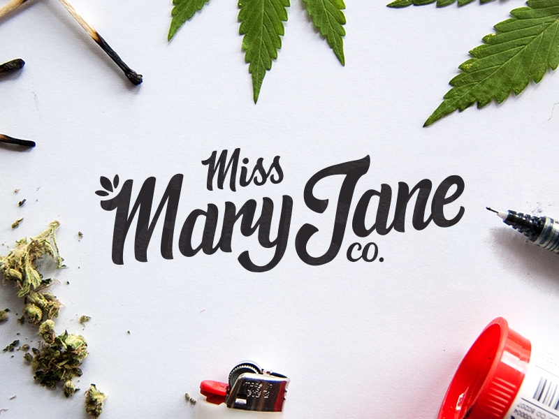 Miss Mary Jane Company hand lettered logo