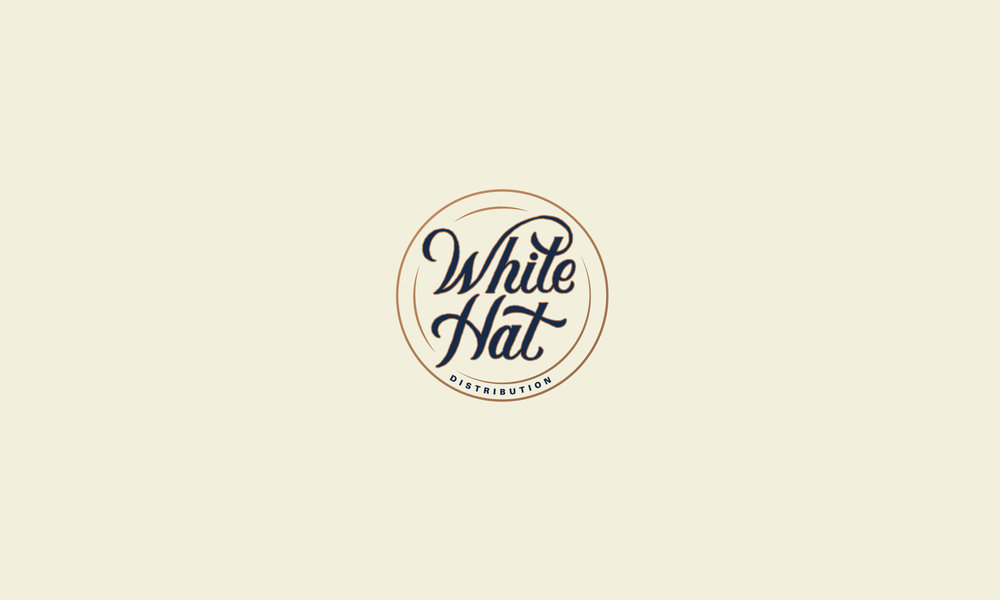 White Hat Cigars hand lettered logo