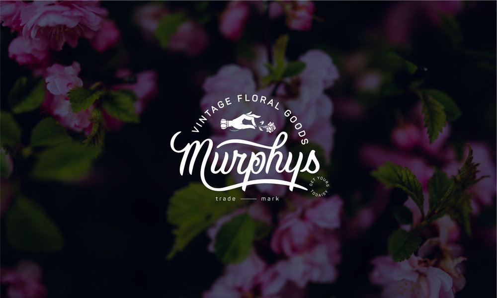 Murphys vintage floral goods logo