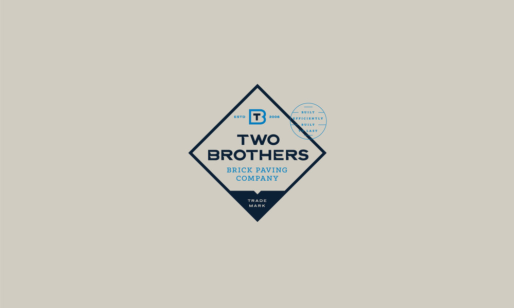 Two Brothers Brick Paving Company logo badge crest and typography