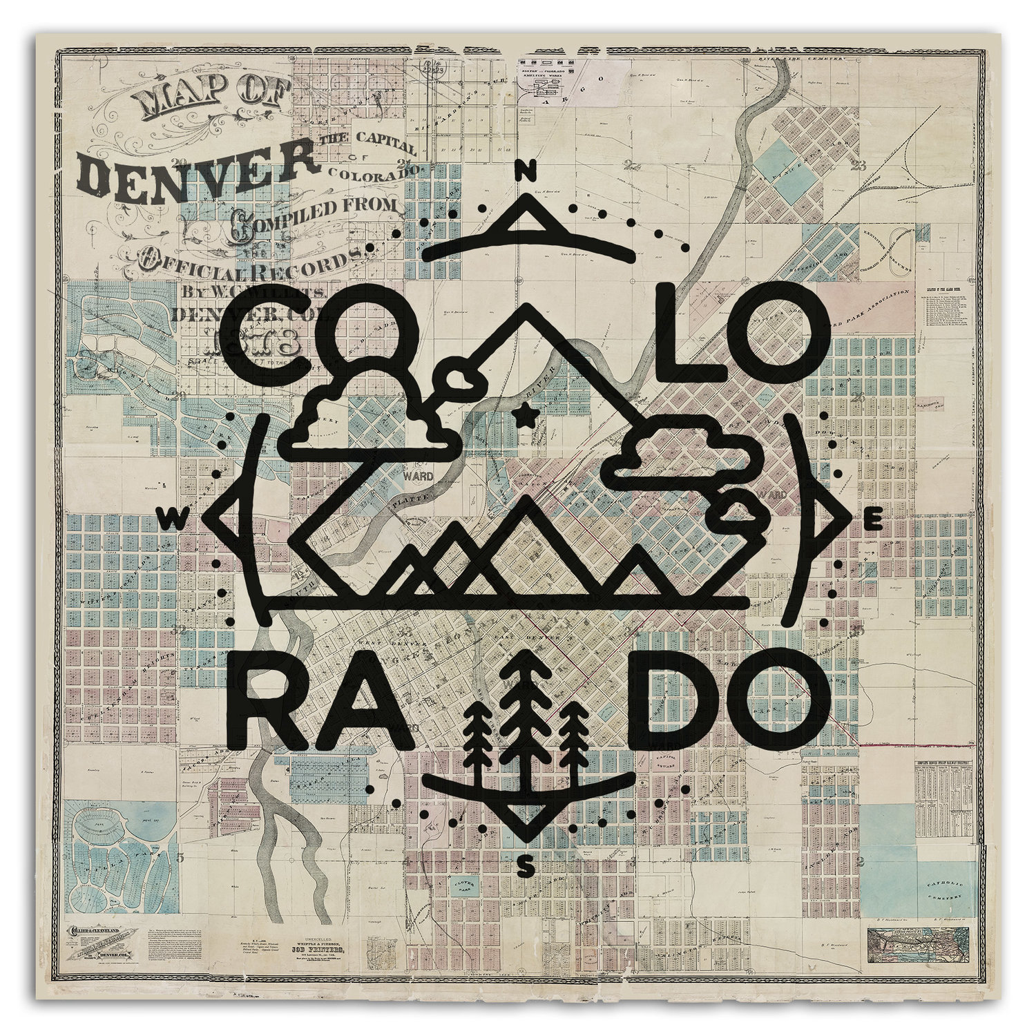 Colorado Crest Denver Map Adam Vicarel Design Direction And