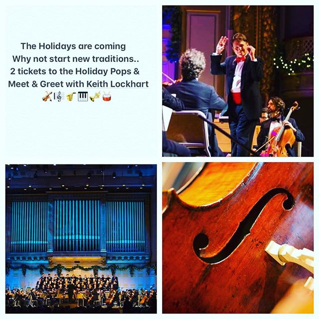 What better way to start new Holiday traditions than with the Holiday Pops!🎻🎼🎷🎹🎺 Here's another Fabulous prize 2 tickets 🎫 and a Meet & Greet with Keith Lockhart  Join us Saturday 10/27/18 Dinner~Dancing~Prizes www.mjwfoundation.org Don't wait to get your tickets  #mjwfoundation #melanoma #danafarber #fightthebeast #cancersucks