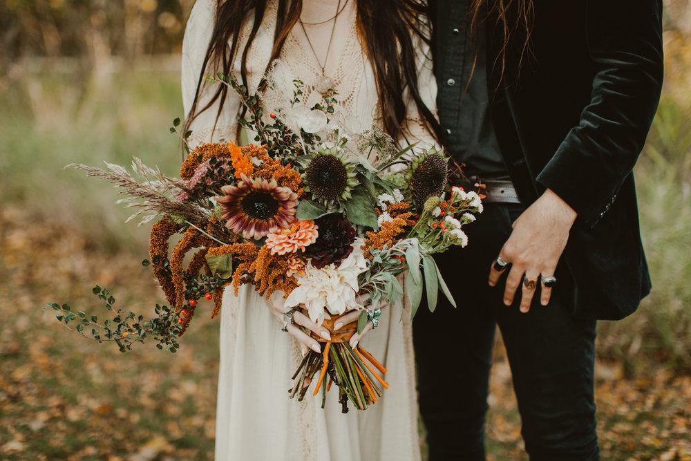 door county boho autumn wedding