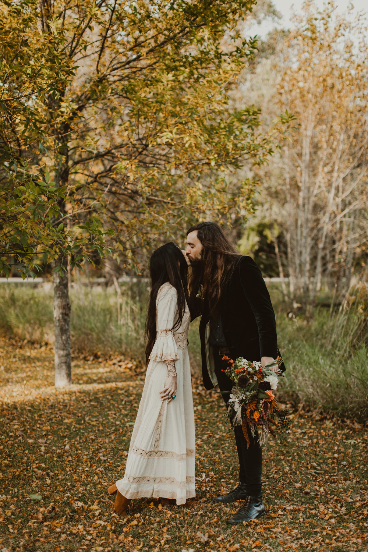 door county fall boho wedding
