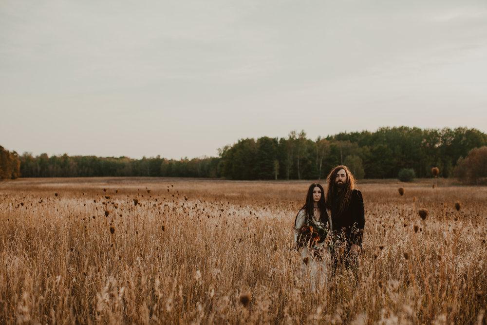 autumn elopement photography