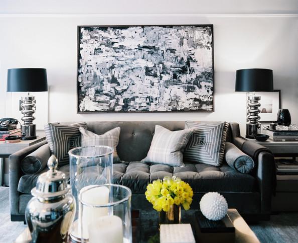 Living Room Space Shades Gray White QA3X4VsIlbfl