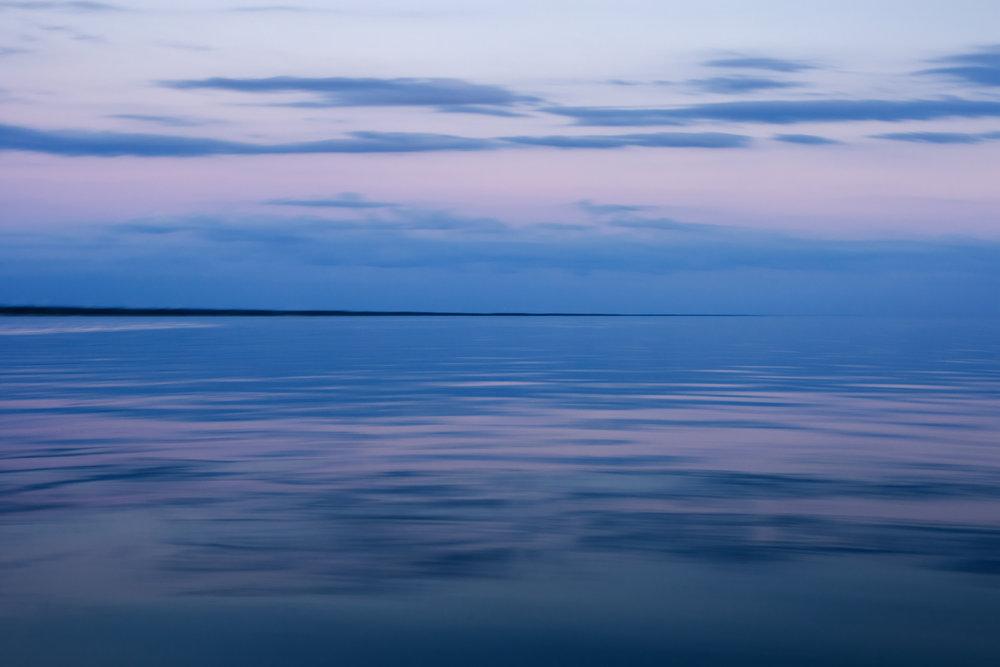 Purple Sky into Water