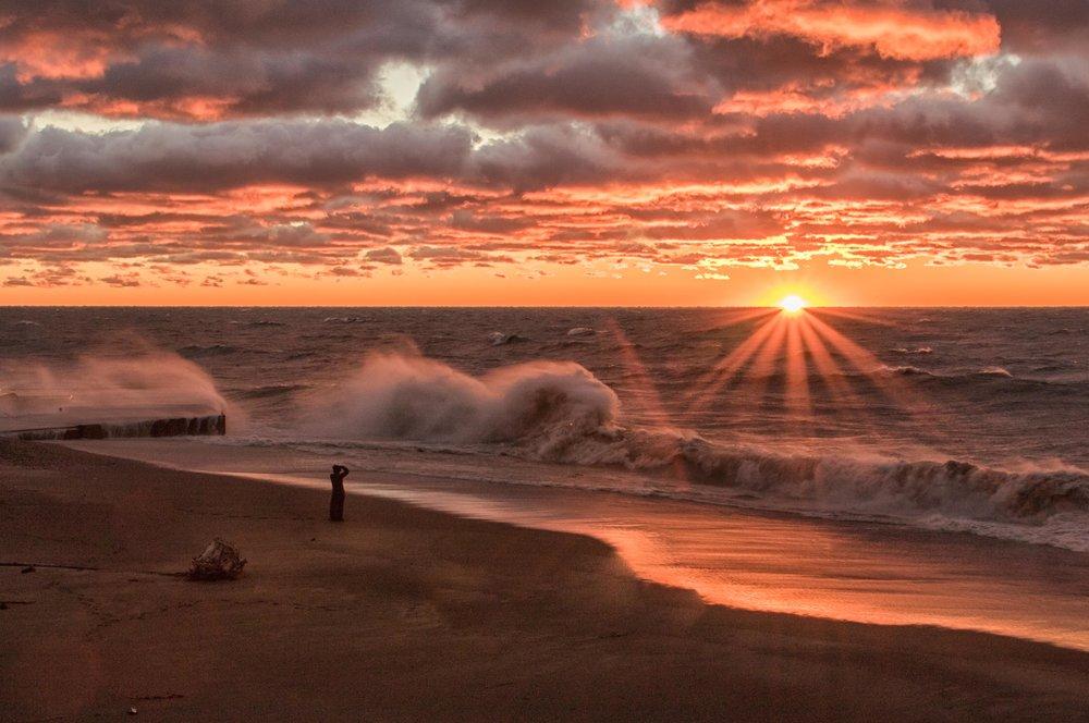 Watching Windy Sunset