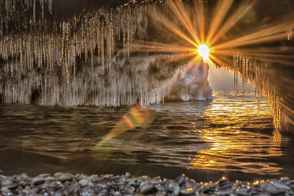 Ice Cave Lens Flare
