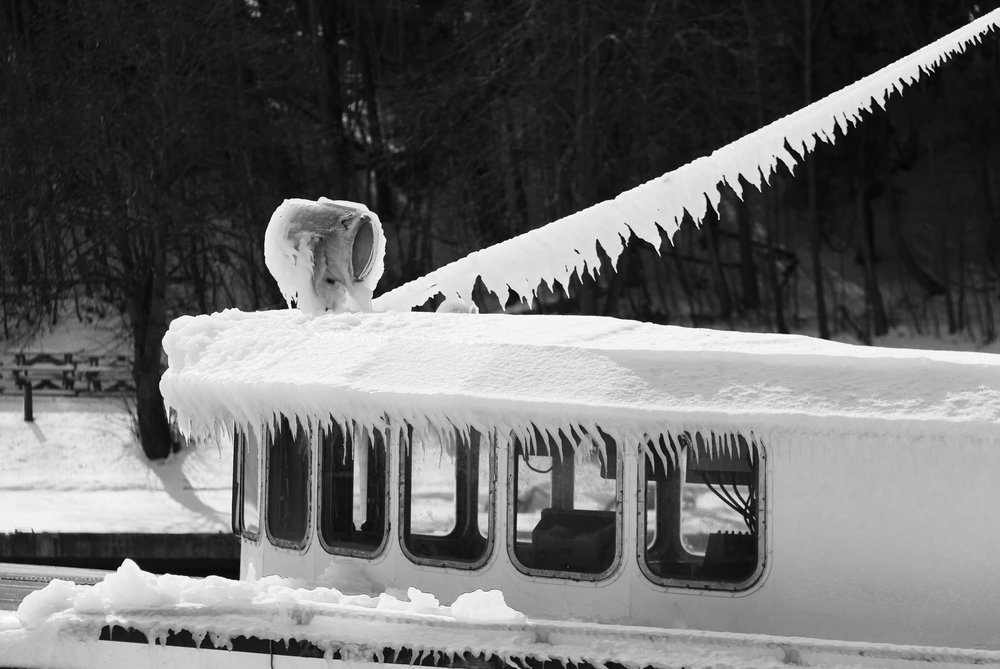 Iced Fishing Boat