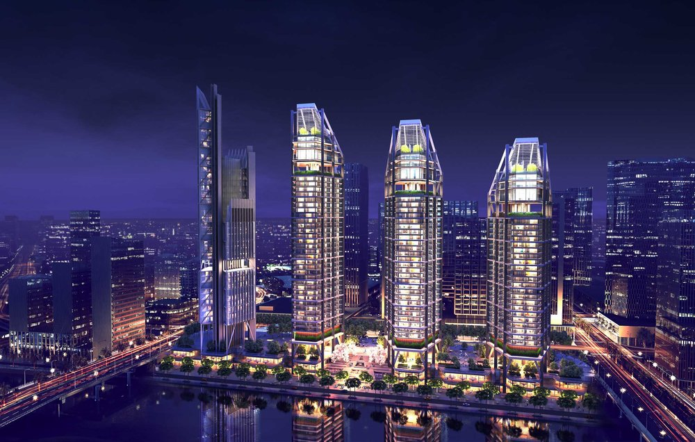 Designed by Rogers Stirk Harbour + Partners for the Farglory Group, Stuart Forbes Associates were first employed as the Interior Architect for the project. Maryah Plaza forms part of a Mubadala development on Maryah Island (Sowwah Island) to be a new city centre for Abu Dhabi.