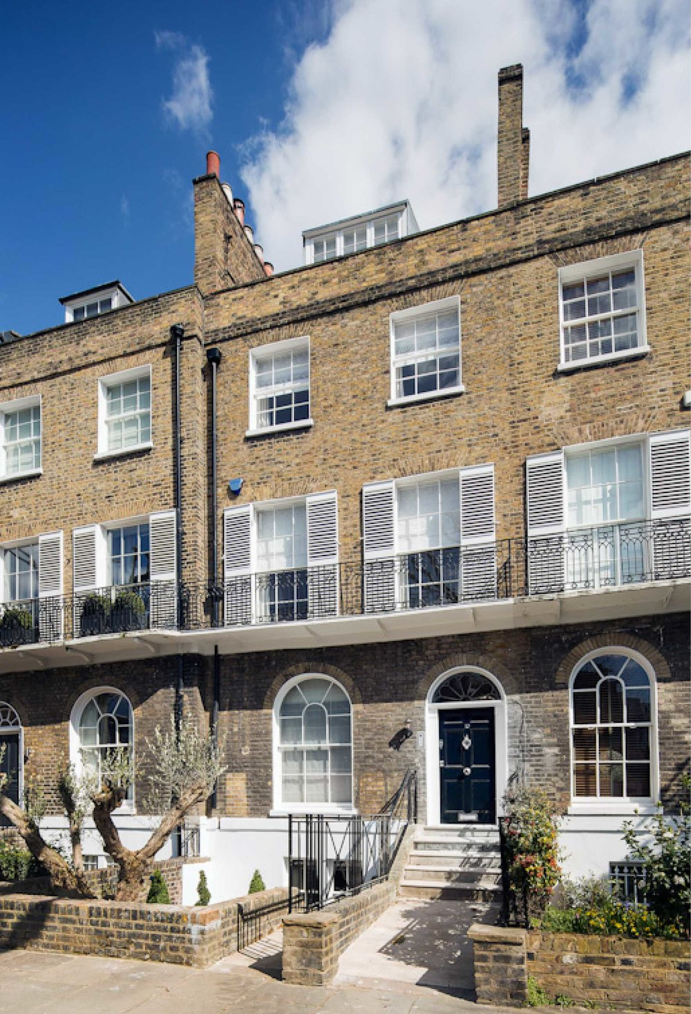 Located in St Johns Wood this listed terrace has kept all its traditional features with a new basement level added.