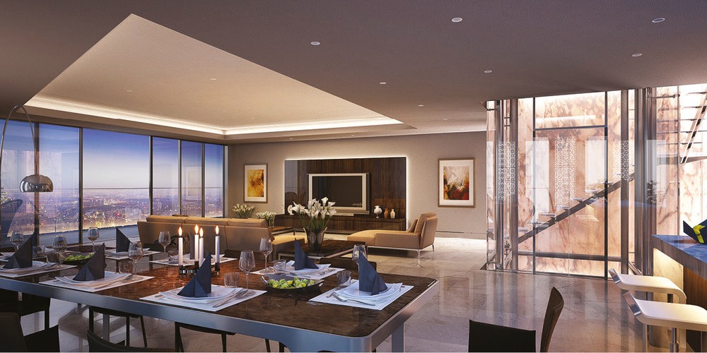 The penthouse for Maryah Plaza on Maryah Island, Abu Dhabi. A mubadala development.