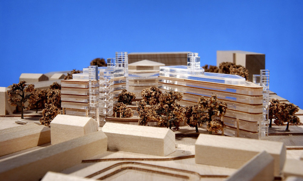 Architectural model of the Blackrock clinic proposal