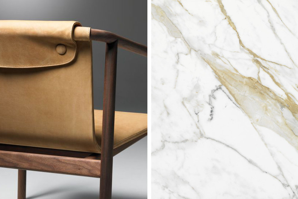Carrera marble and beautiful modern furniture.